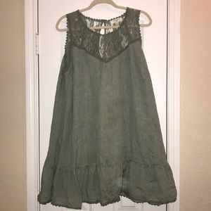 Light green dress with lace detailing- never worn